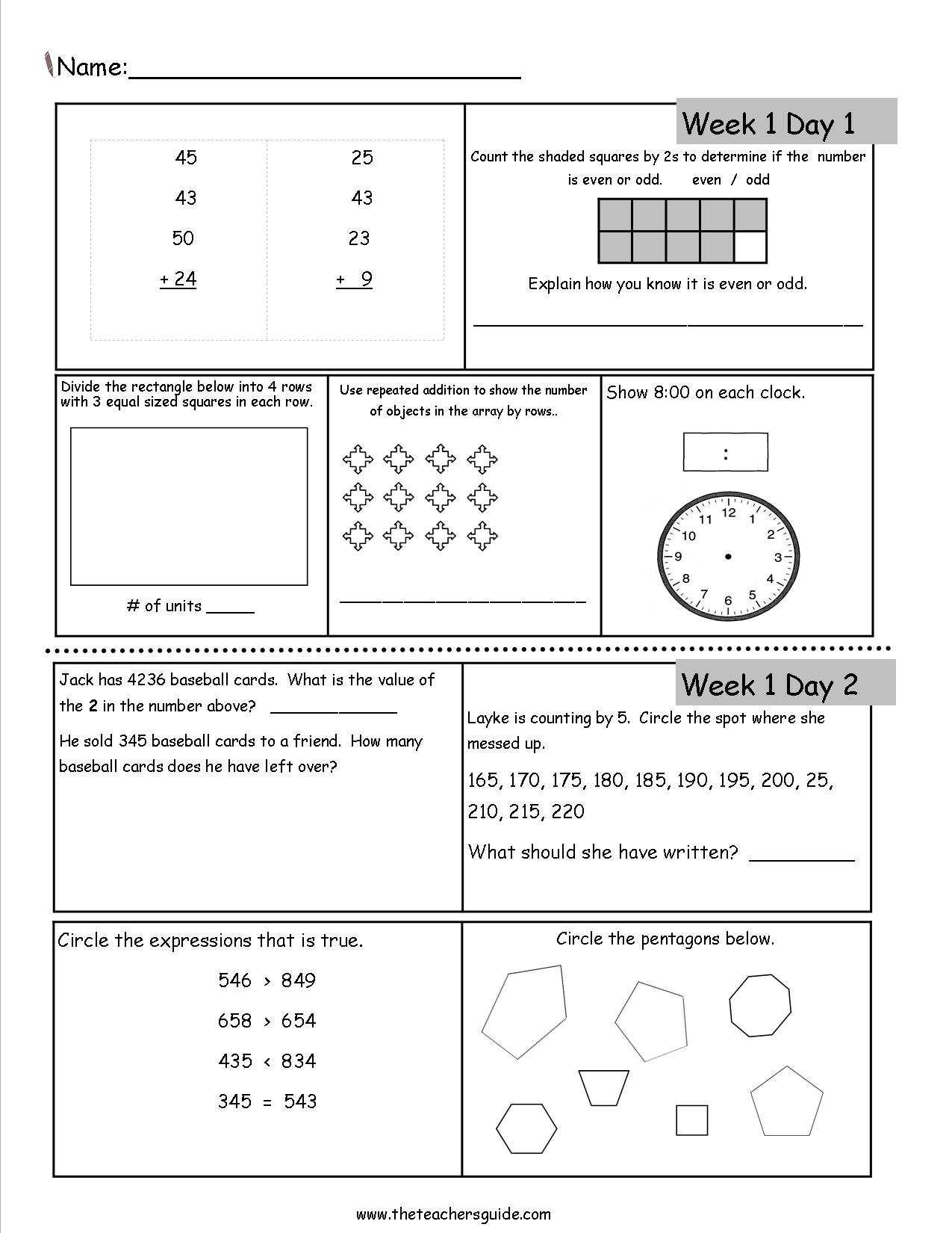 Math homework for 3rd graders. Third Grade Math Worksheets ...