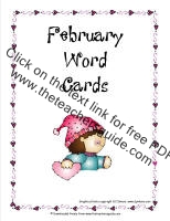 february word cards printout