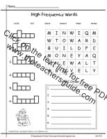 first grade wonders unit five week five printouts high frequency words practice