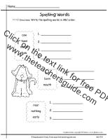 first grade wonders unit five week four printout  spelling words graph
