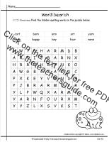 wonders first grade unit five week one printout spelling wordsearch