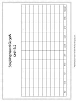 first grade wonders unit five week two printouts spelling words graph