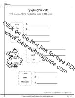 first grade wonders unit five week two printouts spelling words abc order