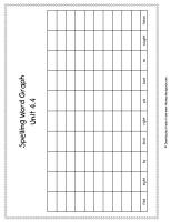 wonders first grade unit four week four printout spelling words graph