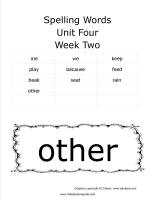wonders first grade unit four week two printout spelling words cards