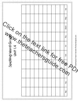 first grade wonders unit one week four spelling words graph