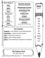 first grade wonders unit one week four weekly outline