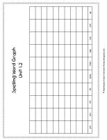 first grade wonders unit one week two spelling words graph