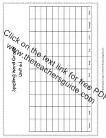 first grade wonders unit six week one printouts spelling words graph