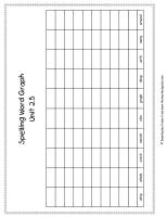 first grade wonders unit two week five spelling words graph