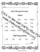 first grade wonders unit two week four word quiz