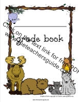 moose theme grade book