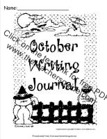 october writing journal printout