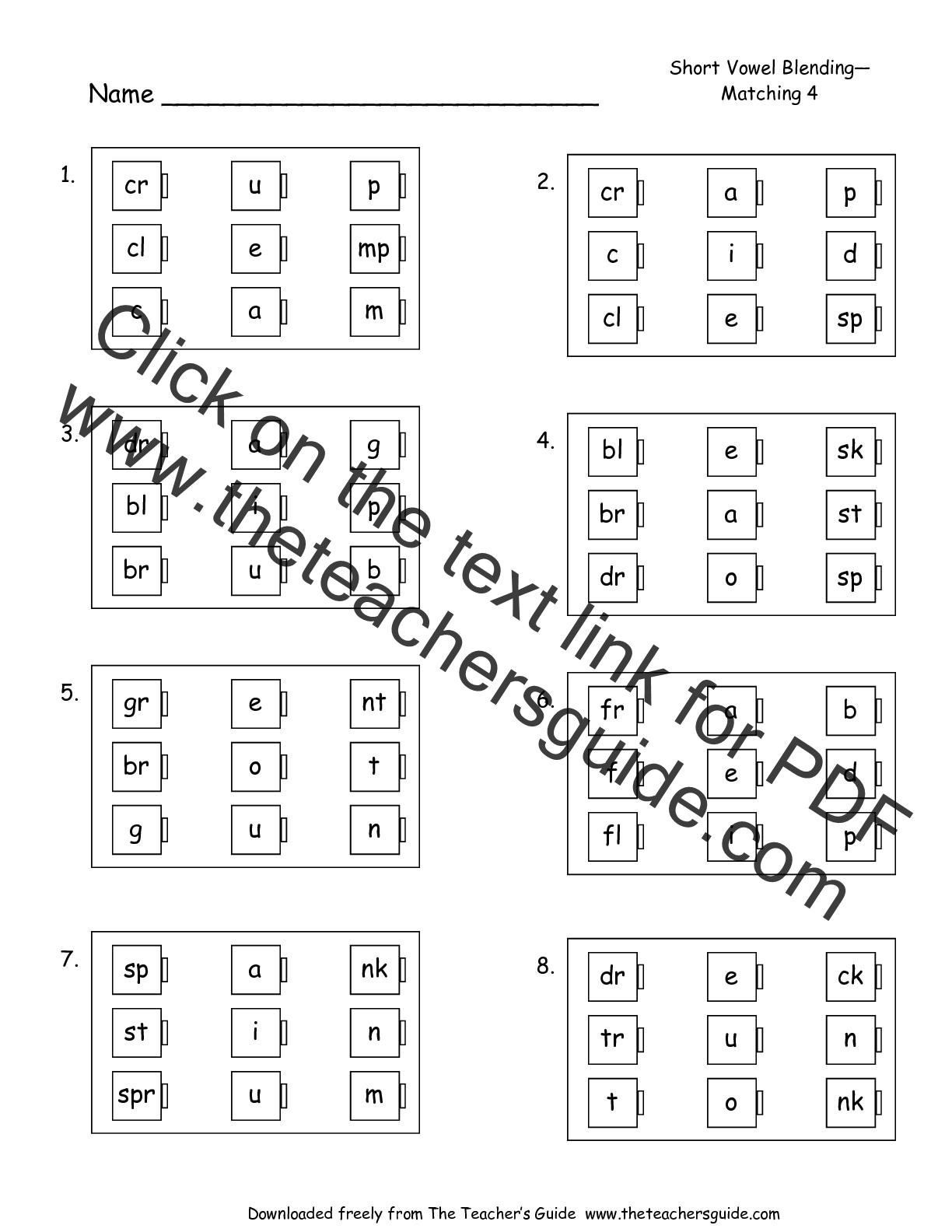 Free Phonics Printouts From The Teacher 39 S Guide