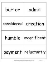 third grade wonders unit five week one vocabulary words cards