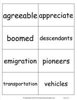 mcgrawhill wonders third grade unit three week five vocabulary cards