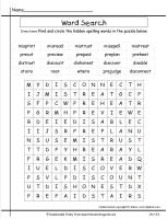 mcgrawhill wonders third grade unit three week four writing prompt spelling wordsearch