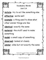 mcgrawhill wonders third grade unit three week four vocabulary words