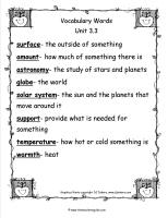 mcgrawhill wonders third grade unit three week three vocabulary words