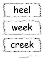 mcgraw hill wonders third grade unit two week two spelling words cards