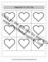 valentines day tic tac toe