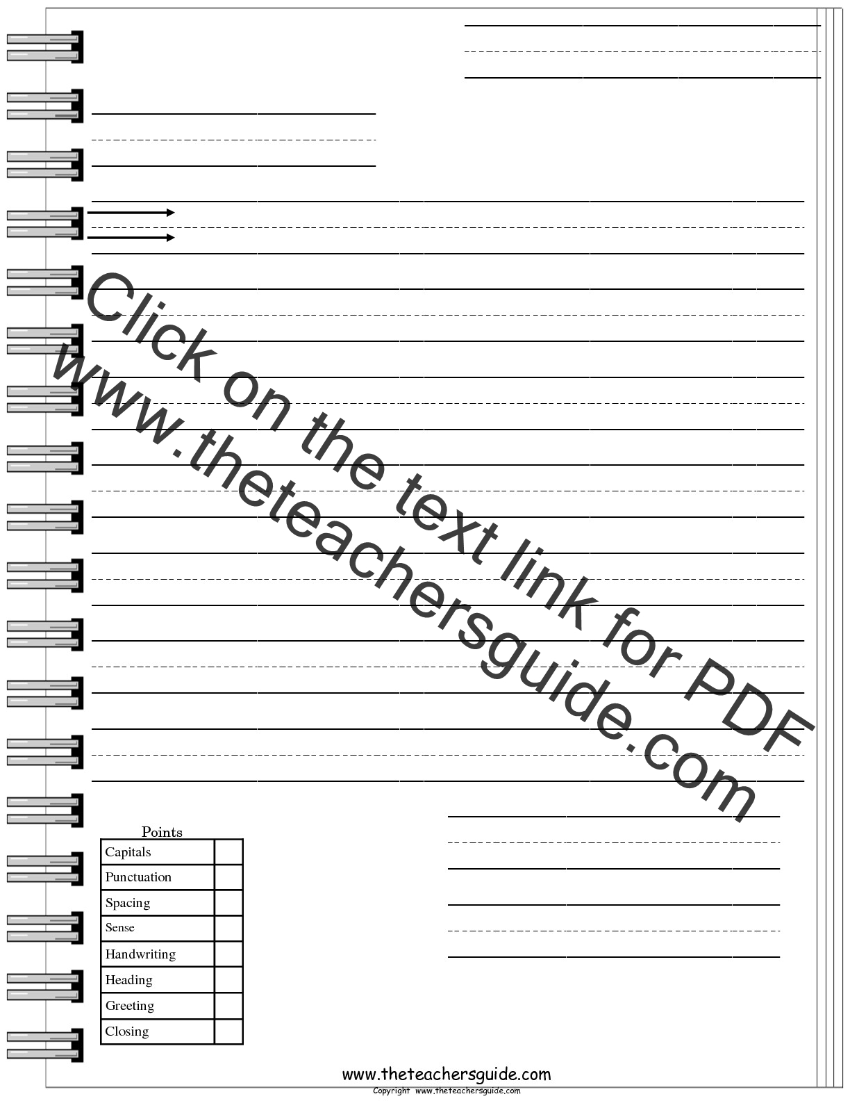 letter writing templates free Printable worksheets to teach writing - paragraph writing, letter writing, peer editing checklists, figures of speech, and lots more.